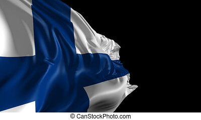 Flag of Finland - Beautiful 3d animation of Finland with...
