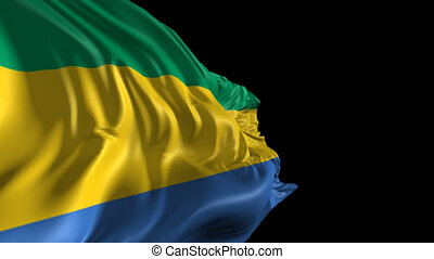 Flag of Gabon - Beautiful 3d animation of Gabon flag with...