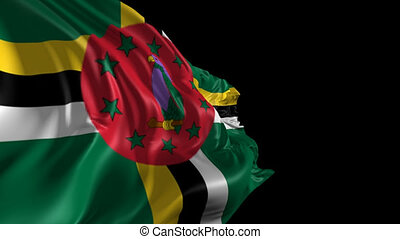 Flag of Dominica - Beautiful 3d animation of Dominica flag...