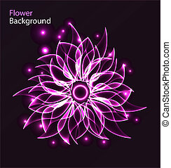 Glowing flower abstract background - Abstract glowing flower...