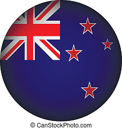 New Zealand flag button - New Zealand flag button on a white...