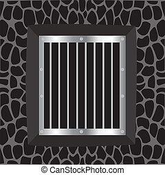 Window and lattice - Illustration window with iron lattice...