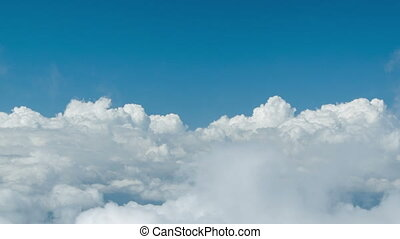 Dive into heavy clouds. Natural introduction - High...