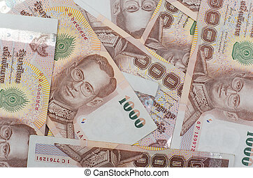 Thailand currency, thai baht background.