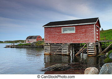 Nordic houses - Nordic fisherman shacks raised on piles by...