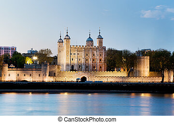 The Tower of London, the UK. The Royal Palace and Fortress...