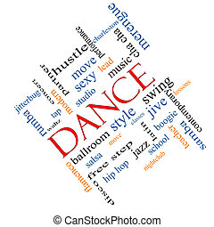 Dance Word Cloud Concept Angled - Dance Word Cloud Concept...