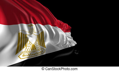 Flag of Egypt - Beautiful 3d animation of Egypt flag with...