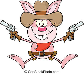 Cowboy Pink Rabbit