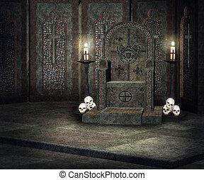 Dark Throne Palace Background