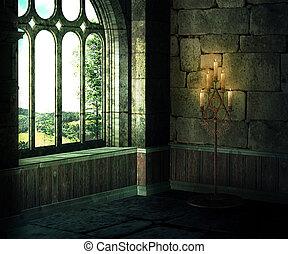 中世, 背景, 部屋