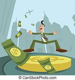 Businessman with dollar