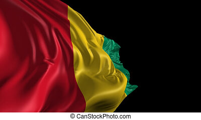 Flag of Guinea - Beautiful 3d animation of Guinea flag with...