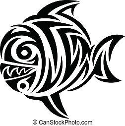 Fish tattoo tribal