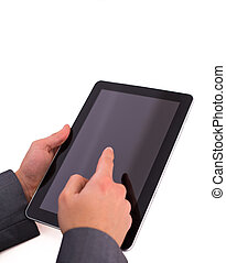 Working with electronic tablet PC