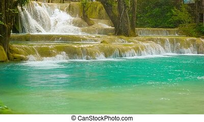 Beauty Kouang Si Waterfall, Laos, Luang Prabang - Video...