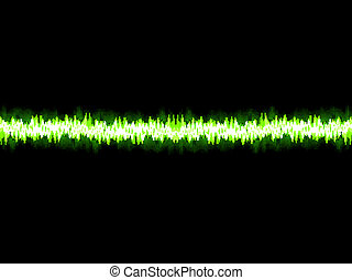 Green sound wave on white background. + EPS10