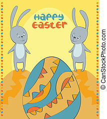 vector card happy Easter
