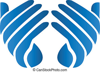 Hopeful hands vector logo - Hopeful hands vector icon