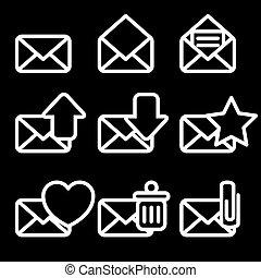 White Envelopes Icons