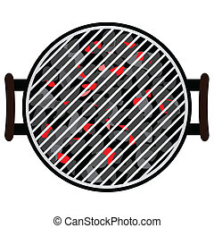 BBQ isolated on white background, vector illustration