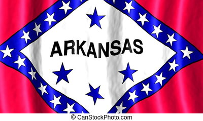 Arkansas US state looping flag animated background