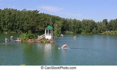 Aya Lake in Altai Krai Russia