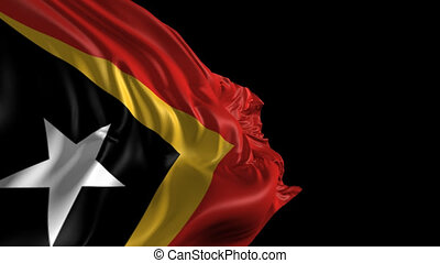 Flag of East Timor - Beautiful 3d animation of East Timor...