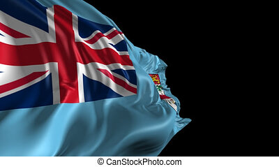 Flag of Fiji - Beautiful 3d animation of flag with alpha...