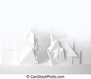 EXPO, branca, sala, 3D, espaço, Vário,...