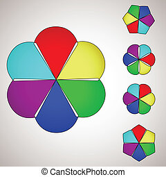 colorful flower background. vector