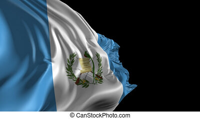 Flag of Guatemala - Beautiful 3d animation of Guatemala flag...