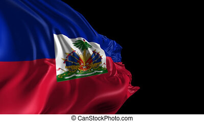 Flag of Haiti - Beautiful 3d animation of Haiti flag with...