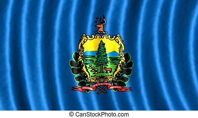Vermont looping flag animated background