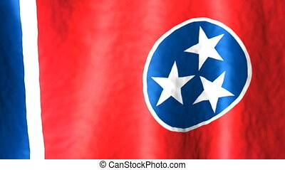 Tennessee looping flag animated background