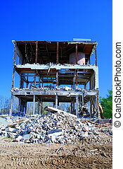 Pile of rubble - Demolition of building