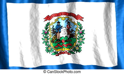 West Virginia looping flag animated background