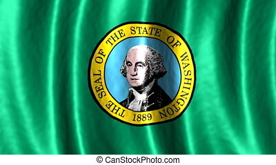 Washington looping flag animated background