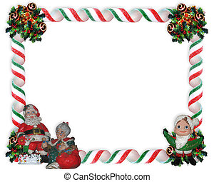 Christmas Photo Frame - Image and Illustration composition...
