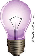 A purple light bulb - Illustration of a purple light bulb on...