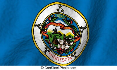 Minnesota looping flag