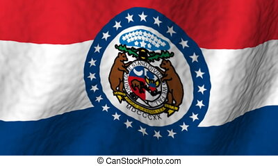 Missouri looping flag - looping flag animated background
