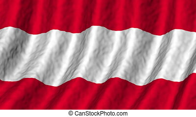 Austria looping flag animated background