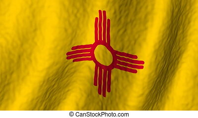 New Mexico looping flag