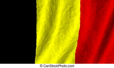 Belgium looping flag animated background