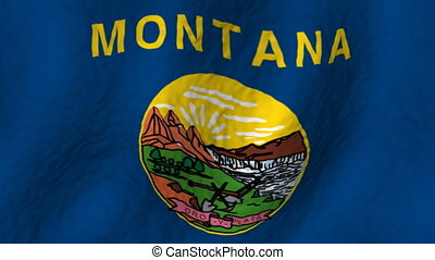 Montana looping flag animated background
