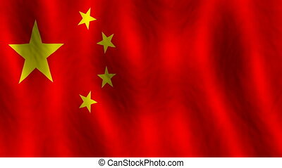 China looping flag animated background