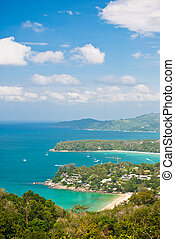 Overview of Kata Beach, Karon Beach, Patong Beach View...