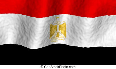 Egypt looping flag animated background