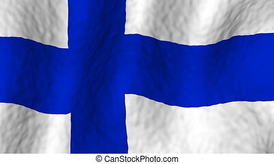 Finland looping flag